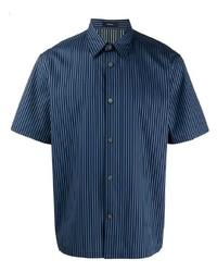 Theory Striped Short Sleeve Shirt