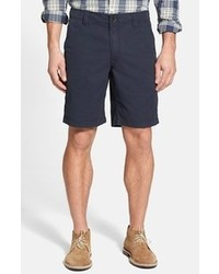 Navy Vertical Striped Shorts