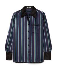 Bella Freud Little Prince Striped Satin Shirt