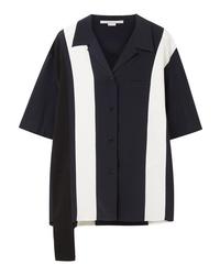 Stella McCartney Asymmetric Striped Silk Shirt