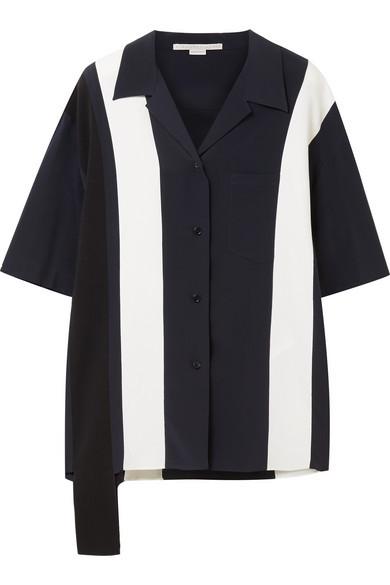 eb4b48e00bf Stella McCartney Asymmetric Striped Silk Shirt, $344 | NET-A-PORTER ...