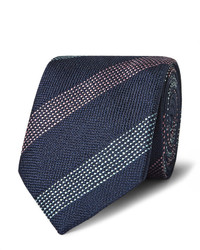 Richard James 75cm Striped Woven Silk Tie