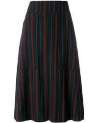 See by Chloe See By Chlo Pinstriped Midi Skirt