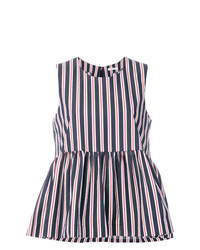 P.A.R.O.S.H. Striped Peplum Top