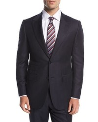 Ermenegildo Zegna Trofeo Tonal Multi Stripe Two Piece Suit