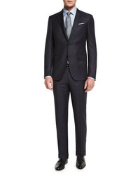 Twill stripe two piece suit midnight medium 699869