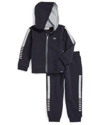Armani Junior Infant Boys Track Jacket Pants Set