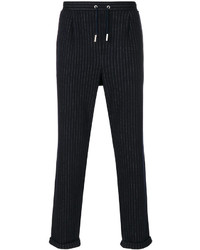 Eleventy Pinstriped Drawstring Trousers