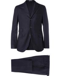 Boglioli Navy Eton Slim Fit Three Piece Wool Suit
