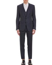 Dolce & Gabbana Pinstripe Two Button Three Piece Suit