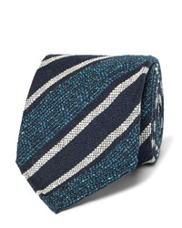 Dunhill 8cm Striped Mulberry Silk Blend Tie