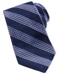 Robert Graham Beaded Stripe Jacquard Tie Navyaqua