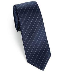 Saks Fifth Avenue Collection Diagonal Stripe Silk Tie