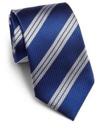 Saks Fifth Avenue Collection Textured Stripe Silk Tie