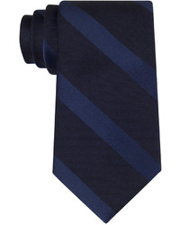 Calvin Klein Dark Midnight Stripes Slim Tie