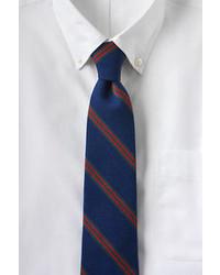 Lands' End Holiday Silk Wool Triple Stripe Necktie