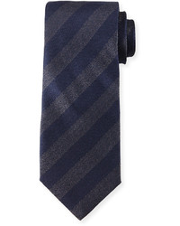 Giorgio Armani Iridescent Striped Silk Tie Navy