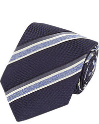 Isaia Border Stripe Neck Tie