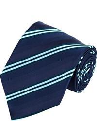 Brioni Mixed Stripe Neck Tie Blue