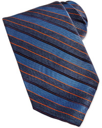 Repp stripe silk tie blue medium 179206