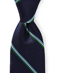 Roundtree Yorke Trademark Slim Jim Stripe Silk Tie