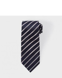 Paul Smith Royal Blue Mixed Diagonal Stripe Silk Tie
