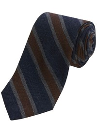 Altea Senna 2 Stripe Tie Wool Silk