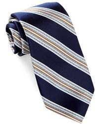 Alara Silk Satin Rib Stripe Tie