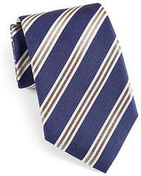 Corneliani Striped Silk Tie
