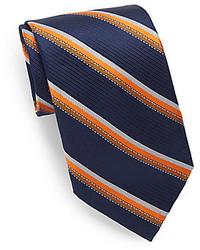 Triple Stripe Silk Linen Tie