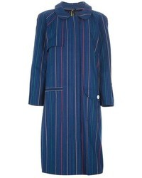 Labour of love striped oversize trench coat medium 40818