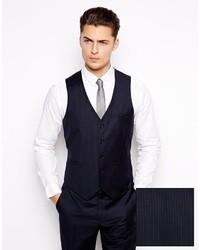 Asos Slim Fit Vest In 100% Wool