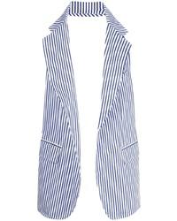 Comme Des Garcons SHIRT Comme Des Garons Shirt Striped Blazer Vest