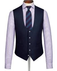 Charles Tyrwhitt Navy City Stripe Slim Fit Suit Vest