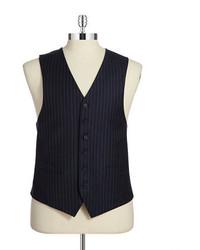Black Brown 1826 Pinstriped Vest