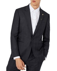 Topman Charlie Casely Hayford X Skinny Fit Check Suit Jacket