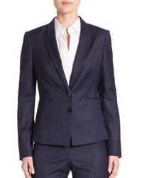BOSS Jalanda Virgin Wool Pinstripe Blazer