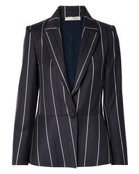 Oscar de la Renta Striped Wool Blend Blazer