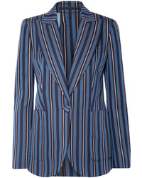 Burberry Striped Wool Blend Blazer