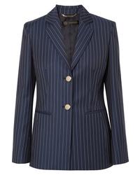 Versace Striped Wool Twill Blazer