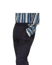 Harmony Navy Pinstripe Paolo Trousers