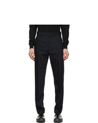 Acne Studios Navy Wool Pinstripe Trousers