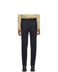 Random Identities Navy And White Wool Classic Trousers