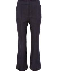 Joseph Ridge Pinstriped Wool Flared Pants
