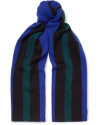 Acne Studios Ninos Fringed Striped Wool Scarf