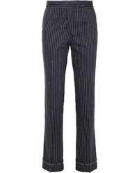 Golden Goose Deluxe Brand Venice Pinstriped Wool And Slim Leg Pants