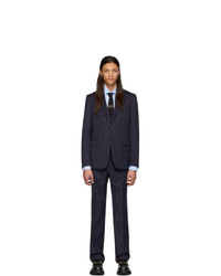 Gucci Navy And Pink Gg Pinstripe Suit