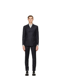 Giorgio Armani Navy Pinstripe Double Breasted Suit