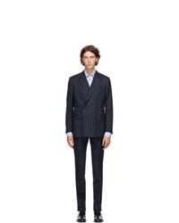 Husbands Navy Pinstripe Suit