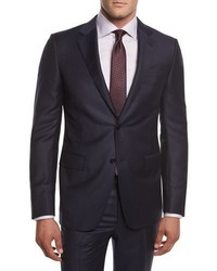 Ermenegildo Zegna Pinstriped Wool Two Piece Suit